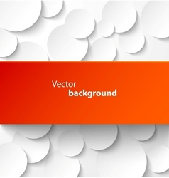 Red paper banner on circle background vector image vector image