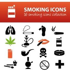 smoking icons vector image vector image