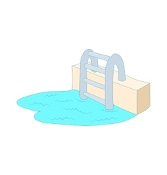 Swimming pool ladder icon cartoon style vector image