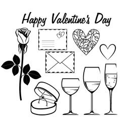Valentine day icon set vector image vector image
