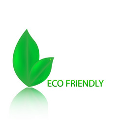 eco friendly website icon vector image vector image