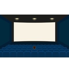 Empty cinema vector image vector image