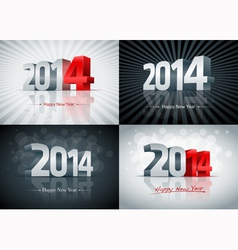 2014 Happy New Year Set vector image