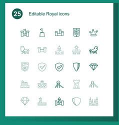 25 royal icons vector