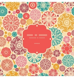 Abstract decorative circles frame seamless pattern vector image