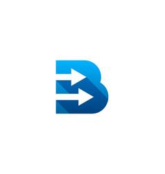 arrow letter b logo icon design vector image