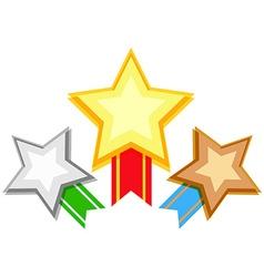 Award design with stars and ribbon vector image