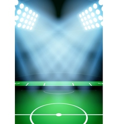 Background for posters night football soccer vector image