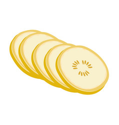 Banana sweet fruit a fruit single icon in vector