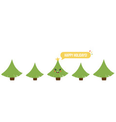 banner header with christmas trees vector image