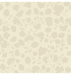 beige plant silhouette stripes vector image