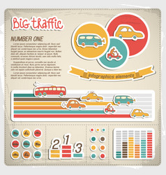 Big traffic infographics vector