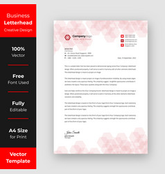 Business letterhead red color design vector