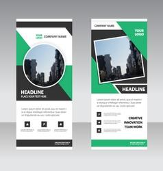 Business Roll Up Banner flat design template set vector image vector image