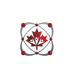 Canada community logo template vector