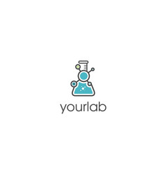 chemical-lab-logo-template vector image