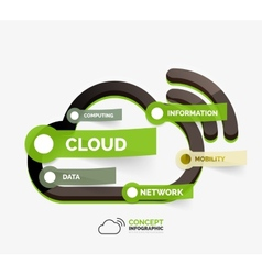 cloud storage icon infographic concept vector image