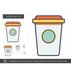Coffee to go line icon vector