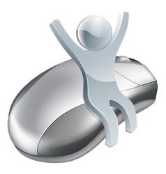 computer mouse man internet concept vector image
