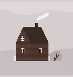 cute two-storey living house or cottage modern vector image