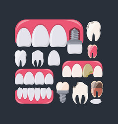 Dental care design vector