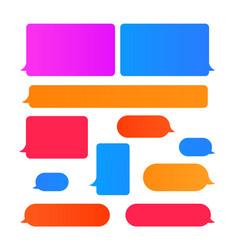 Design element message bubbles vector