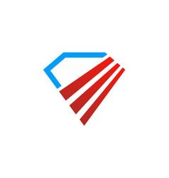 diamond abstract shape logo vector image