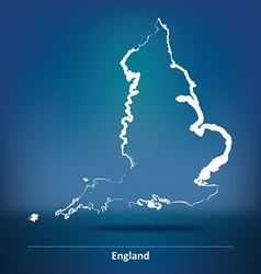 Doodle Map of England vector