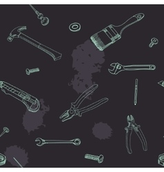 Doodle style tools background - seamless vector image