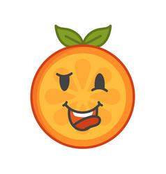 Emoji - crazy orange isolated vector