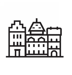 Europe Townt House Emblem vector image