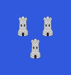 Flag of tournon-sur-rhone in ardeche of vector
