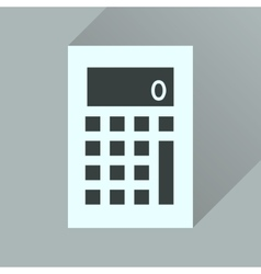 Flat icon with long shadow office calculator vector
