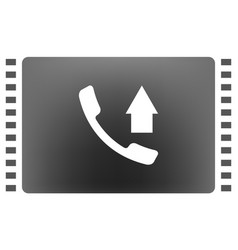 flat paper cut style icon of out-coming call vector image