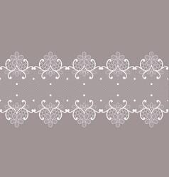 Floral lace ribbon vector