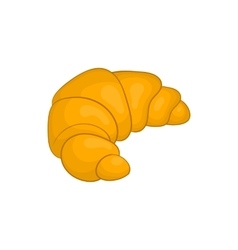 Fresh croissant icon cartoon style vector image