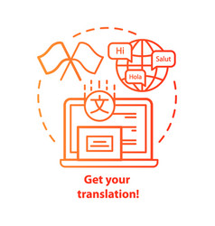 Get your translation red concept icon online vector