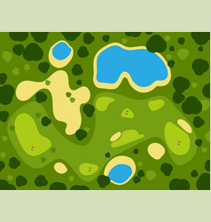golf field course green grass sport landscape play vector image