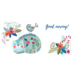 good morning art colorful vector image