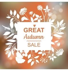 Great Autumn Sale Banner vector
