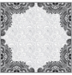 grey vintage floral ornamental template on flower vector image