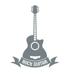 Guitar logo simple gray style vector