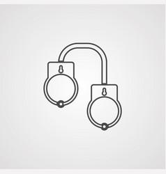 Handcuffs icon sign symbol vector