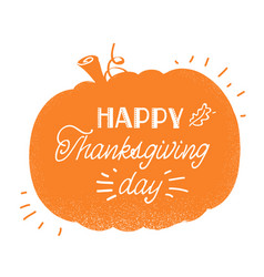 happy thankgiving day american holiday with vector image