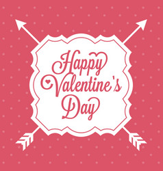 Happy valentine day alphabet with vintage vector