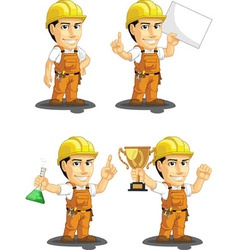 Industrial Construction Worker Mascot 5 vector image