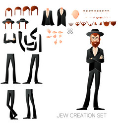 jew create character set vector image