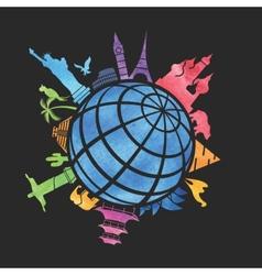 landmarks around world vector image