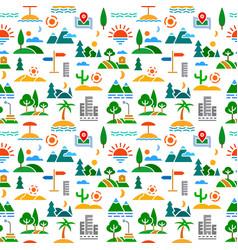 landscapes seamless color pattern vector image
