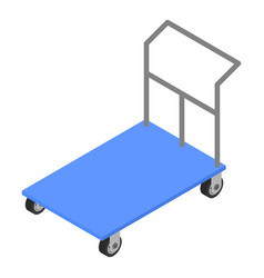 load cart icon isometric style vector image